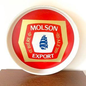 Vintage Molson Export Metal Beer Drink Tray